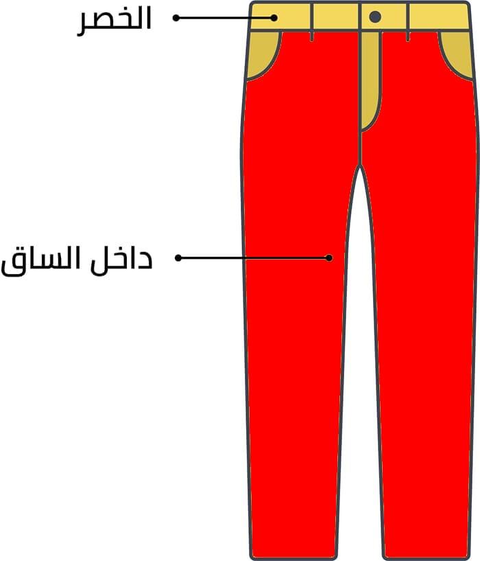الطريقة الصحيحة لأخد قياس البنطلون الرجالي عند الشراء من أش أند أم