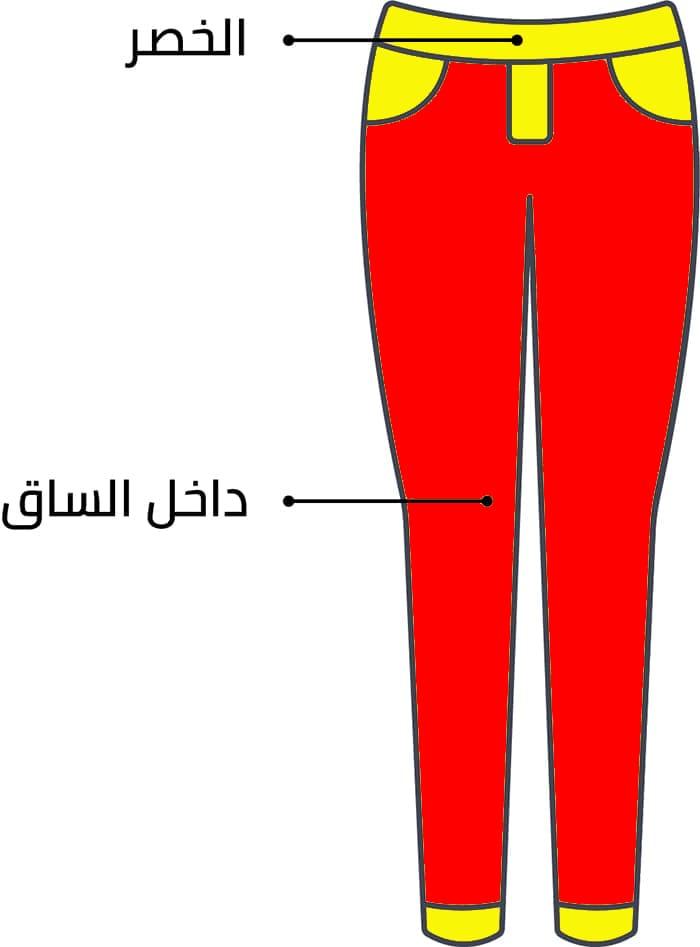 الطريقة الصحيحة لأخد قياس البنطلون النسائي عند الشراء من أش أند أم